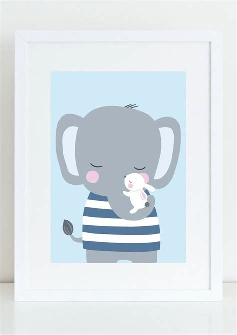 Kinderzimmer Poster Jungen by 10 Best Elefanten In Blau Grau Images On Blue