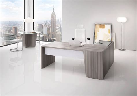 bureau bois design contemporain bureau direction b select coloris bois cèdre et table de