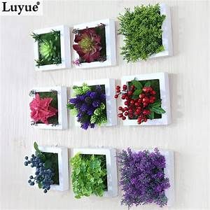 New d creative metope succulent plants imitation wood