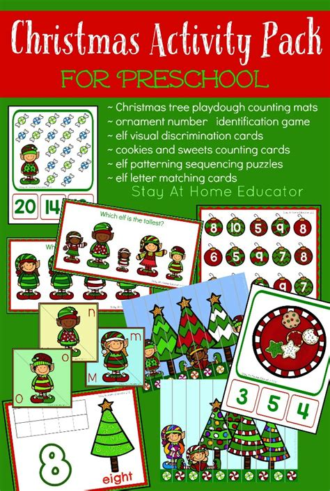 christmas games preschool activity pack for preschool stay at home 194