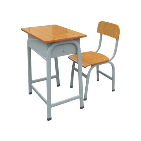 cheap metal plus wooden child study table chair
