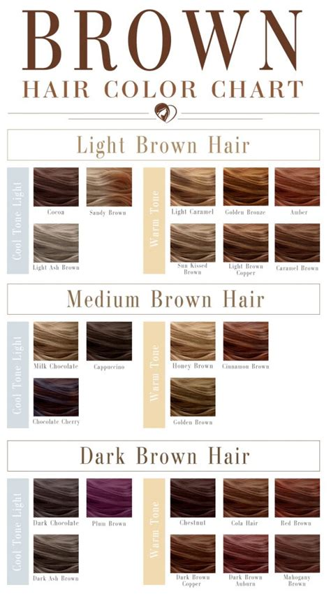 Hair Color Shades Of Chart by 24 Shades Of Brown Hair Color Chart To Suit Any Complexion