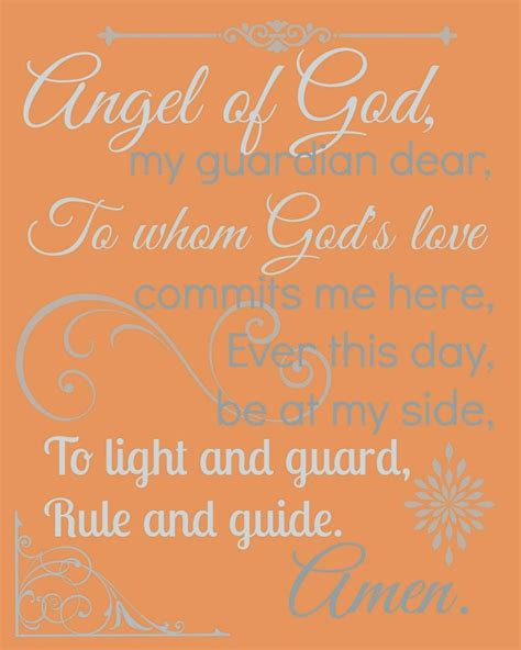 Guardian Prayer by Guardian Prayer Printable By Catholic All Year For