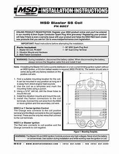 Msd 8207 Blaster Ss Coil Installation User Manual