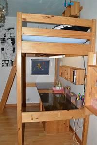 Lit 1 Place Mezzanine : lit mezzanine en bois naturel christine ~ Teatrodelosmanantiales.com Idées de Décoration
