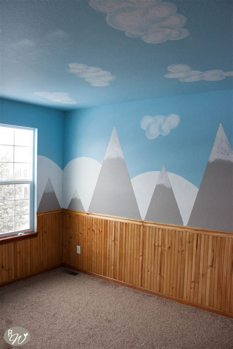 diy mountain wall tutorial    wallpaper