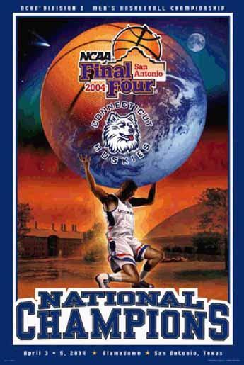 uconn huskies  national basketball champions posters