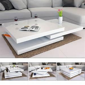 Hochglanz Tisch Weiß : deuba couchtisch hochglanz wei wohnzimmertisch beistelltisch sofa tisch modern ebay ~ Frokenaadalensverden.com Haus und Dekorationen