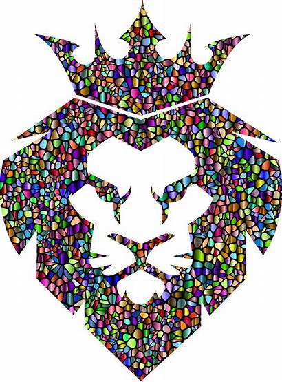 Clipart Lion Crown King Tiles Transparent Chromatic