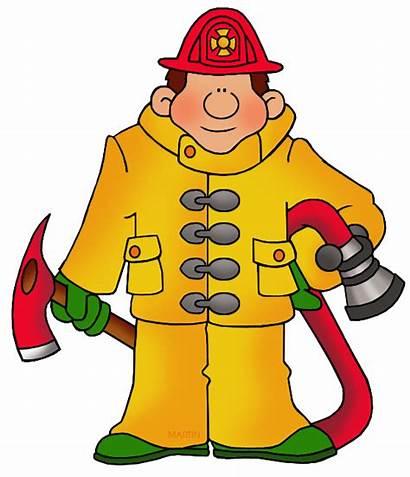 Fireman Clipart Occupations Clip Martin Cartoon Phillip