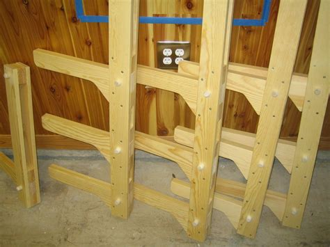 woodwork wood storage racks woodworking plans  plans