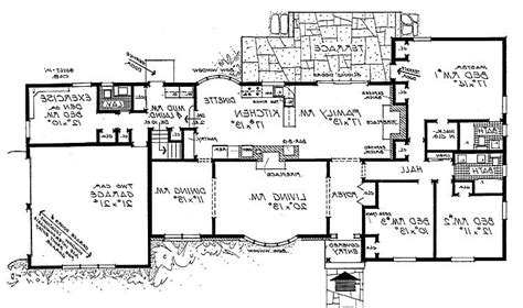 Ranch Style House Plans with Detached Garage