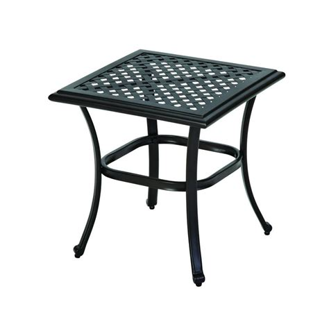 home depot garden table hton bay fall river patio side table d11034 ts the