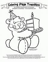 Coloring Birthday Cake Happy Pages Grandma Drop Roll Stop Az Mother Bear Popular Card Getcoloringpages Coloringhome sketch template