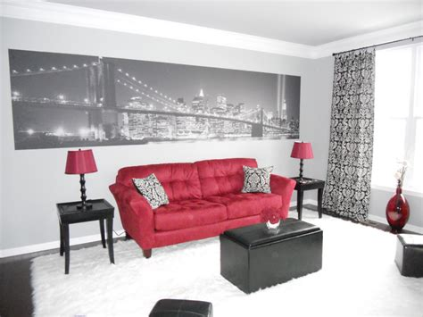 red black and white living room decor room decorating