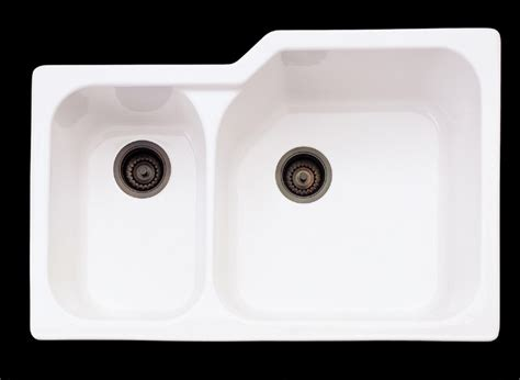 rohl fireclay sink 6307 rohl rohl allia fireclay 2 bowl undermount kitchen sink