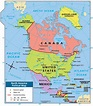 North America Political Map | For Bella | Map, Geography ...