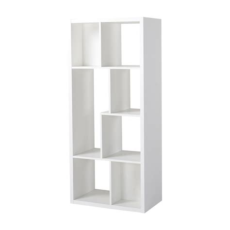 homestar 7 compartment shelving console in white the