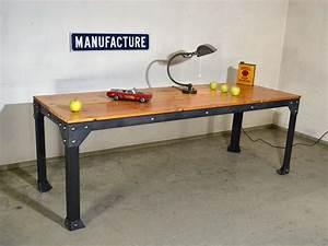 Table En Acier : table acier bois ~ Teatrodelosmanantiales.com Idées de Décoration