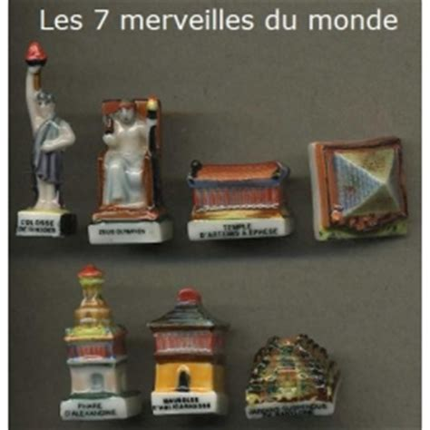 complete set of 7 feves les 7 merveilles du monde fabofolie s