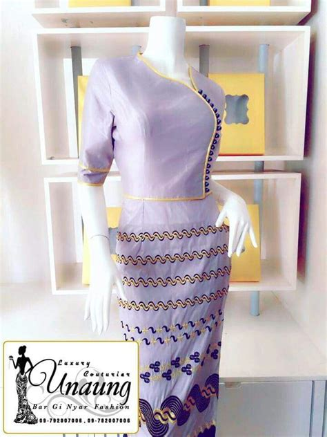 images  myanmar clothes designs  pinterest