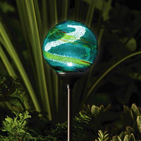 murano solar garden globe aqua