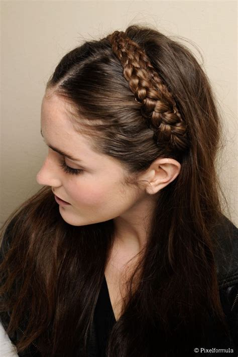 easy headband braid tutorial  long hair