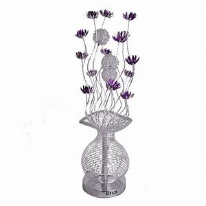 Large modern aluminium floor lamp flower vase design for Large flower floor lamp