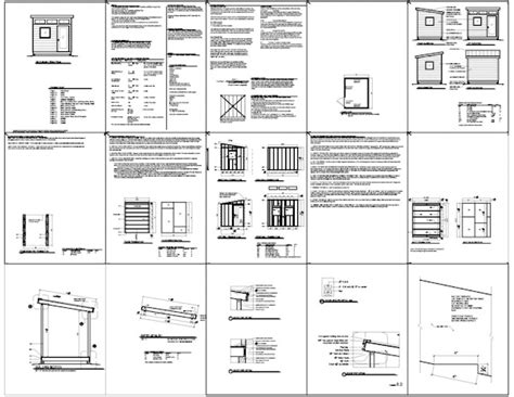 shed plans 8x10 pdf kehed detail building plans for 8x12 shed