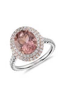 pink tourmaline engagement ring blue nile pink tourmaline and halo pave ring engagement rings photos brides