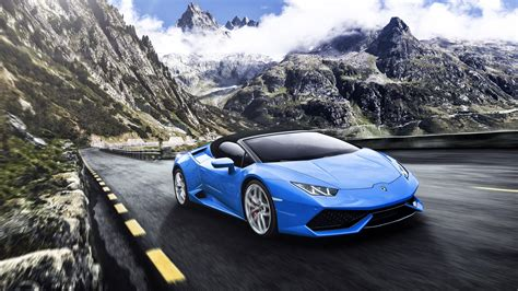 Blue Wallpaper Iphone 6 Lamborghini by Blue Lamborghini Huracan 4k Wallpaper Lamborghini
