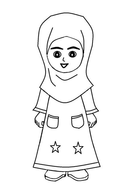 gambar kartun laki laki dan perempuan muslim