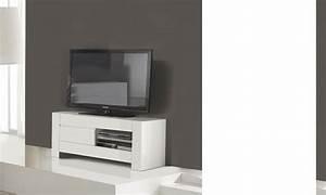 Meuble Tv Design Blanc Laqué : meuble tv design blanc laqu totti ~ Teatrodelosmanantiales.com Idées de Décoration