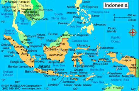 indonesia map infoplease