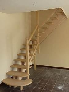Escalier Bois Quart Tournant : escalier bois quart tournant milieu ~ Farleysfitness.com Idées de Décoration