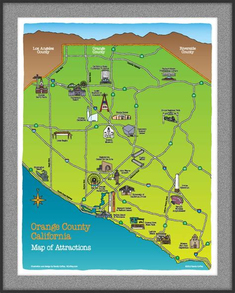 orange county california map  attractions socal homes