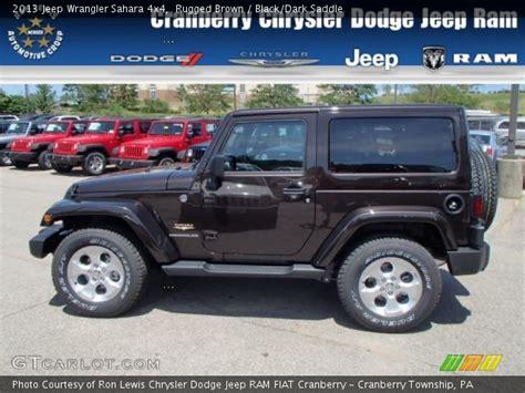 dark brown jeep rugged brown 2013 jeep wrangler sahara 4x4 black dark