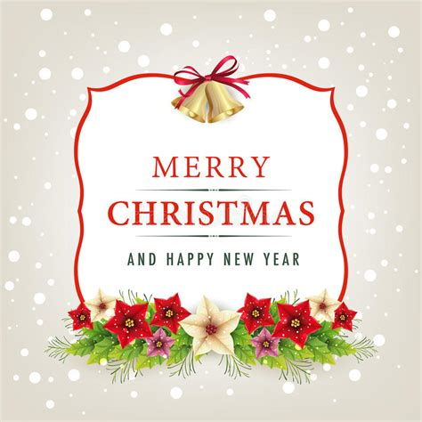 merry christmas and happy new year card stock vector image 35764295