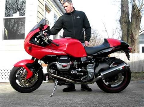Moto Guzzi V1 1 by 2003 Moto Guzzi V11 Le Mans Starting Mov