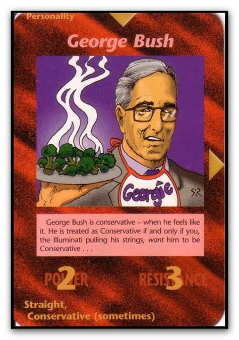 Illuminati Card Buy Illuminati Cards George Bush By Icu8124me On Deviantart