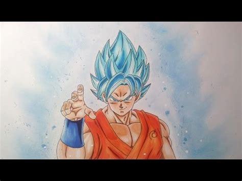 drawing goku super saiyan blue super saiyan god super