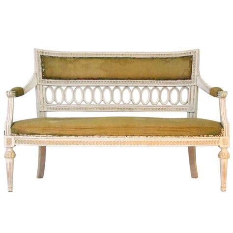 Swedish Settee by Swedish Settee Swedish Sofa 19th Century Gustavian