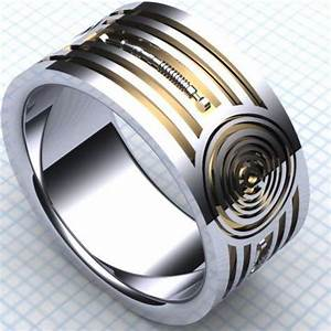 Droid inspired wedding bands wedding band for Star wars mens wedding ring