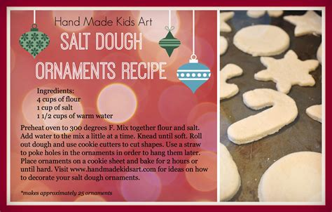 classic salt dough recipe for christmas ornaments salt dough ornaments steam lab