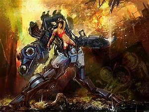 Hot-Girl-Mech-Warrior-Fantasy-Art-32-x24-Art-Posters