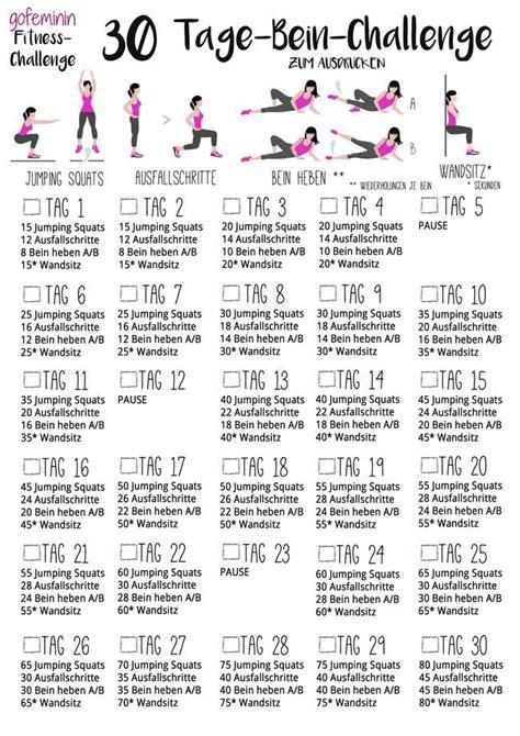f 252 r sch 246 ne straffe beine die 30 tage bein challenge workout bein challenge 30 tage beine