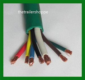 Trailer Light Cable Wiring Harness 7 Wire Jacketed Green Flexible Heavy Duty Abs