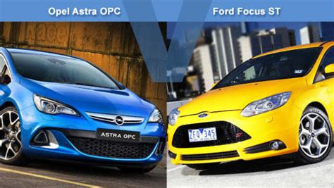 Ford Opel by Opel Astra Opc Vs Ford Focus St Review Carsguide