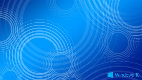 Blue High Resolution Background Wallpaper by Windows 10 Wallpaper Blue Circles With Logo Hd