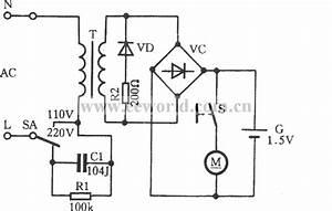 Rscw-102 Rechargeable Shaver Circuit - Electrical Equipment Circuit - Circuit Diagram